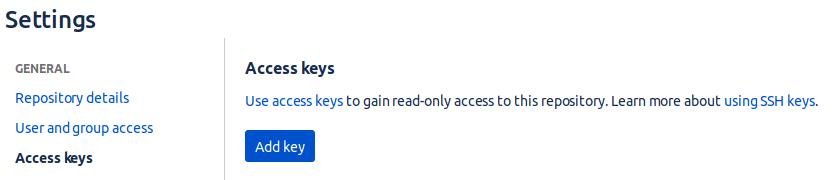 Bitbucket deploy/access keys